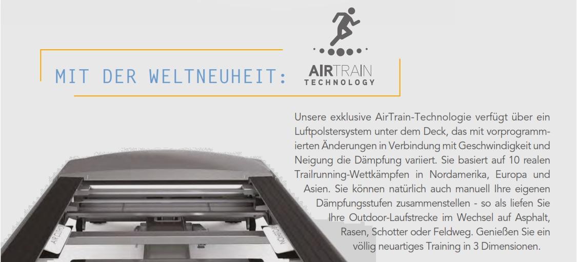 Laufband Paragon X Infos zur AirTrain Technology