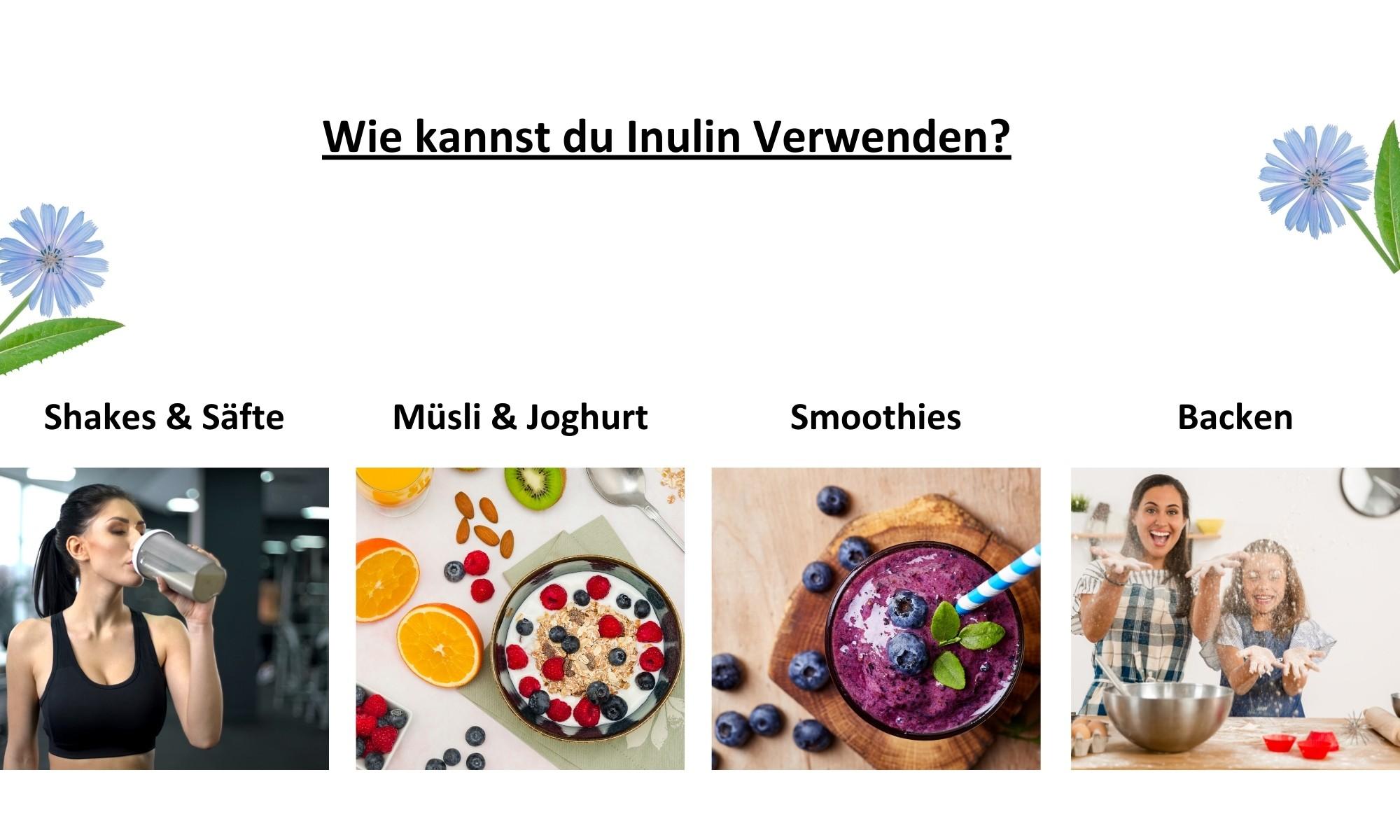 Inulin-Pulver-Vegan-Anwendung