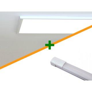 Licht Set mit Vollspektrumlicht für das Kellerbüro
