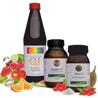 Immunpaket Set - Novo Qi®, Micro C®, KorallenQi Pulver®