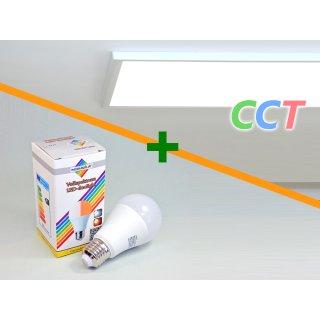Variation 1   LED-Panel CCT + LED-Lampe 12Watt/E27 duolight