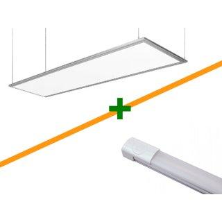 Variation 1 | LED-Panel, Y-Seil + LED-Lichtleiste